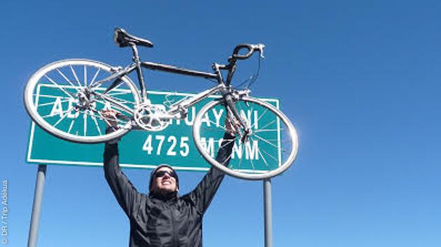 La satisfaction d'avoir gravi les montagnes du Pérou en vélo !