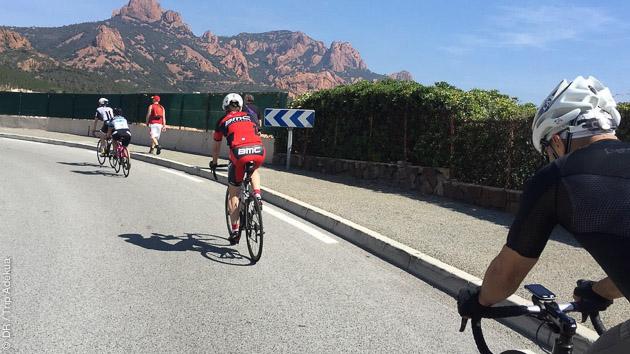 Superbe coaching sur les routes du Var, pendant la cyclosportive Granfondo de Saint Tropez