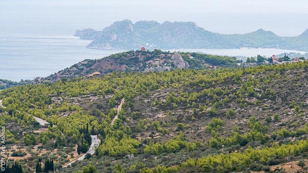 Vue sur la mer ionienne, pendant votre stage vélo de route en Grèce